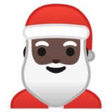 Santa Claus: Dark Skin Tone on Google Android 10.0 March 2020 Feature Drop