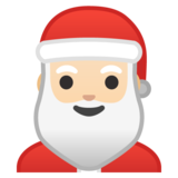 Santa Claus: Light Skin Tone on Google Android 10.0 March 2020 Feature Drop