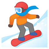Snowboarder: Dark Skin Tone on Google Android 10.0 March 2020 Feature Drop