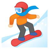 Snowboarder: Light Skin Tone on Google Android 10.0 March 2020 Feature Drop