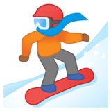 Snowboarder: Medium-Dark Skin Tone on Google Android 10.0 March 2020 Feature Drop