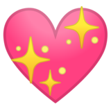 Sparkling Heart on Google Android 10.0 March 2020 Feature Drop