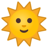Sun with Face on Google Android 10.0 March 2020 Feature Drop