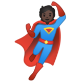 Superhero: Dark Skin Tone on Google Android 10.0 March 2020 Feature Drop
