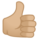 Thumbs Up: Medium-Light Skin Tone on Google Android 10.0 March 2020 Feature Drop