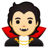 Vampire: Light Skin Tone on Google Android 10.0 March 2020 Feature Drop