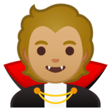Vampire: Medium-Light Skin Tone on Google Android 10.0 March 2020 Feature Drop