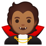Vampire: Medium Skin Tone on Google Android 10.0 March 2020 Feature Drop