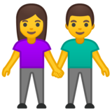 Woman and Man Holding Hands on Google Android 10.0 March 2020 Feature Drop