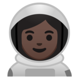 Woman Astronaut: Dark Skin Tone on Google Android 10.0 March 2020 Feature Drop