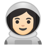 Woman Astronaut: Light Skin Tone on Google Android 10.0 March 2020 Feature Drop