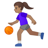Woman Bouncing Ball: Medium Skin Tone on Google Android 10.0 March 2020 Feature Drop