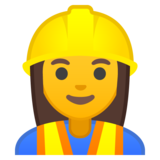 Woman Construction Worker on Google Android 10.0 March 2020 Feature Drop