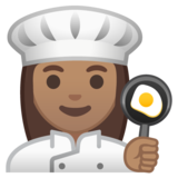 Woman Cook: Medium Skin Tone on Google Android 10.0 March 2020 Feature Drop