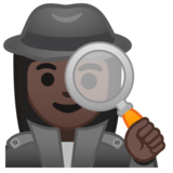Woman Detective: Dark Skin Tone on Google Android 10.0 March 2020 Feature Drop