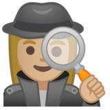 Woman Detective: Medium-Light Skin Tone on Google Android 10.0 March 2020 Feature Drop