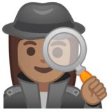 Woman Detective: Medium Skin Tone on Google Android 10.0 March 2020 Feature Drop