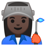 Woman Factory Worker: Dark Skin Tone on Google Android 10.0 March 2020 Feature Drop
