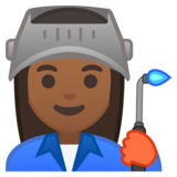 Woman Factory Worker: Medium-Dark Skin Tone on Google Android 10.0 March 2020 Feature Drop