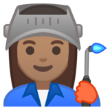 Woman Factory Worker: Medium Skin Tone on Google Android 10.0 March 2020 Feature Drop