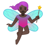 Woman Fairy: Dark Skin Tone on Google Android 10.0 March 2020 Feature Drop