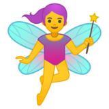 Woman Fairy on Google Android 10.0 March 2020 Feature Drop