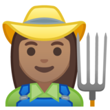Woman Farmer: Medium Skin Tone on Google Android 10.0 March 2020 Feature Drop