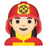 Woman Firefighter: Light Skin Tone on Google Android 10.0 March 2020 Feature Drop