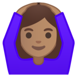 Woman Gesturing OK: Medium Skin Tone on Google Android 10.0 March 2020 Feature Drop