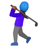 Woman Golfing: Medium-Dark Skin Tone on Google Android 10.0 March 2020 Feature Drop