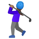 Woman Golfing: Medium Skin Tone on Google Android 10.0 March 2020 Feature Drop