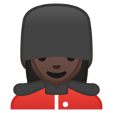 Woman Guard: Dark Skin Tone on Google Android 10.0 March 2020 Feature Drop