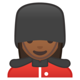 Woman Guard: Medium-Dark Skin Tone on Google Android 10.0 March 2020 Feature Drop