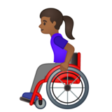 Woman in Manual Wheelchair: Medium-Dark Skin Tone on Google Android 10.0 March 2020 Feature Drop