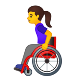 Woman in Manual Wheelchair on Google Android 10.0 March 2020 Feature Drop
