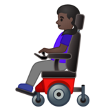 Woman in Motorized Wheelchair: Dark Skin Tone on Google Android 10.0 March 2020 Feature Drop