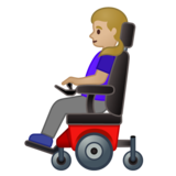 Woman in Motorized Wheelchair: Medium-Light Skin Tone on Google Android 10.0 March 2020 Feature Drop