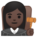 Woman Judge: Dark Skin Tone on Google Android 10.0 March 2020 Feature Drop