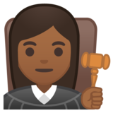 Woman Judge: Medium-Dark Skin Tone on Google Android 10.0 March 2020 Feature Drop