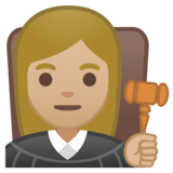 Woman Judge: Medium-Light Skin Tone on Google Android 10.0 March 2020 Feature Drop