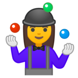Woman Juggling on Google Android 10.0 March 2020 Feature Drop