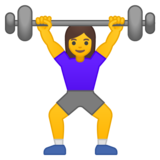 Woman Lifting Weights on Google Android 10.0 March 2020 Feature Drop