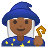 Woman Mage: Medium-Dark Skin Tone on Google Android 10.0 March 2020 Feature Drop