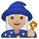 Woman Mage: Medium-Light Skin Tone on Google Android 10.0 March 2020 Feature Drop