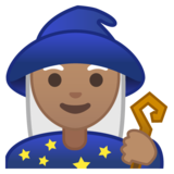 Woman Mage: Medium Skin Tone on Google Android 10.0 March 2020 Feature Drop