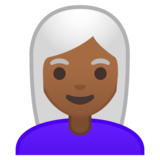 Woman: Medium-Dark Skin Tone, White Hair on Google Android 10.0 March 2020 Feature Drop