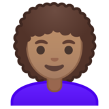 Woman: Medium Skin Tone, Curly Hair on Google Android 10.0 March 2020 Feature Drop