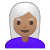 Woman: Medium Skin Tone, White Hair on Google Android 10.0 March 2020 Feature Drop
