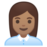 Woman Office Worker: Medium Skin Tone on Google Android 10.0 March 2020 Feature Drop