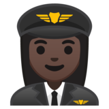 Woman Pilot: Dark Skin Tone on Google Android 10.0 March 2020 Feature Drop